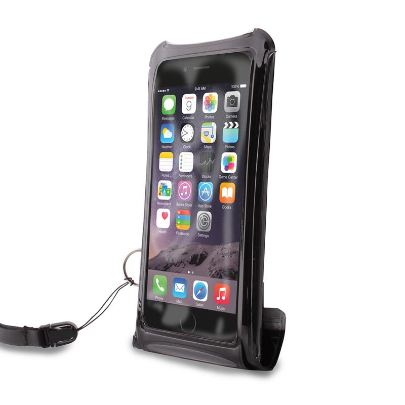 """PURO Nieprzemakalne etui smartphone/phablet max. 5.1"""" + kieszeń na kartę (czarny)"""