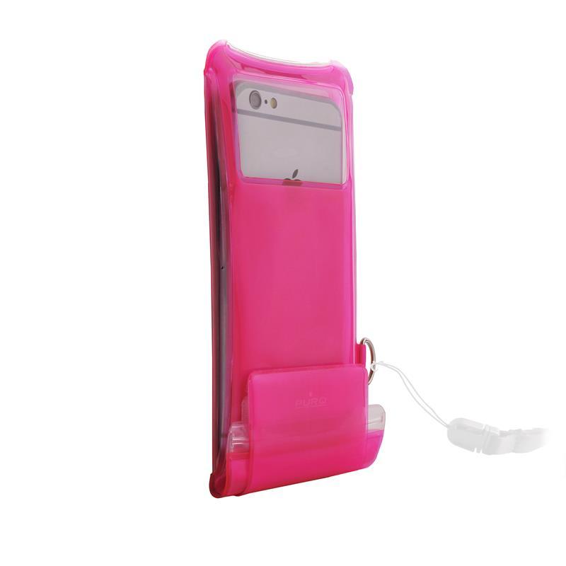"""PURO Nieprzemakalne etui smartphone/phablet max. 5.1"""" + kieszeń na kartę (różowy)"""