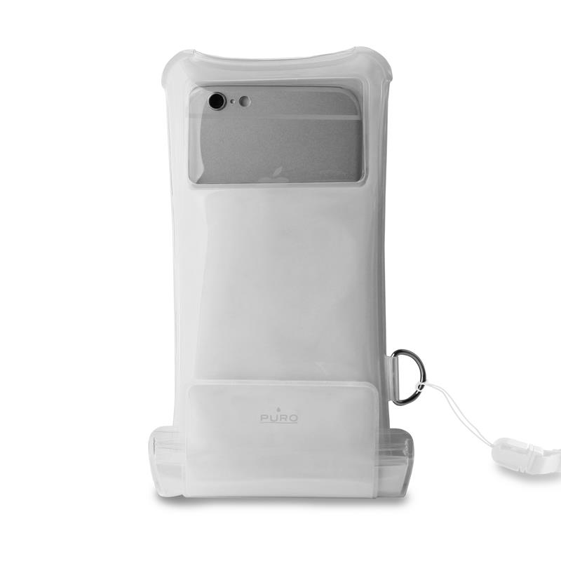 """PURO Nieprzemakalne etui smartphone/phablet max. 5.1"""" + kieszeń na kartę (przezroczysty)"""