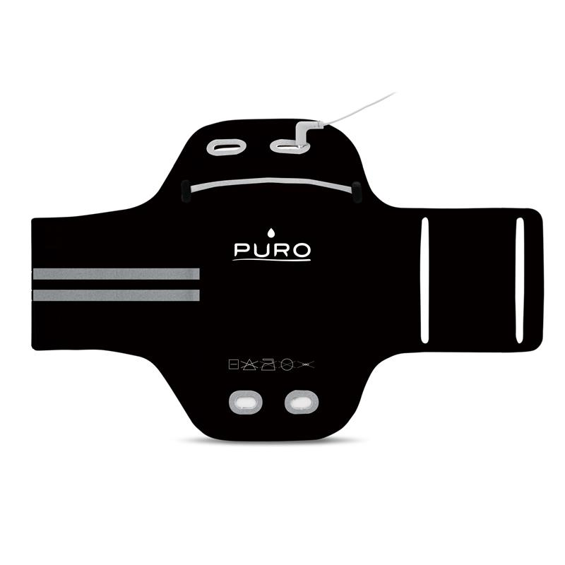 """PURO Armband - Uniwersalna sportowa opaska na ramię do smartfonów max 5.1"""" (czarny)"""
