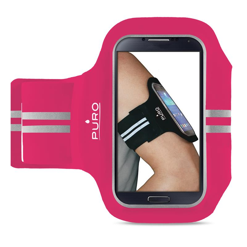 """PURO Armband - Uniwersalna sportowa opaska na ramię do smartfonów max 5.1"""" (różowy)"""