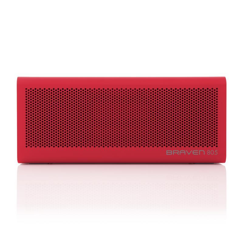 Braven 805 HD Portable Red - Głośnik bezprzewodowy z funkcją Power Bank (4400 mAh)