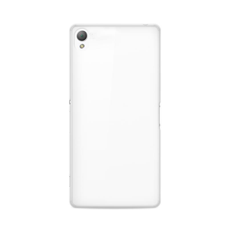 """PURO Ultra Slim """"0.3"""" Cover - Zestaw etui + folia na ekran Sony Xperia Z3+ (półprzezroczysty)"""