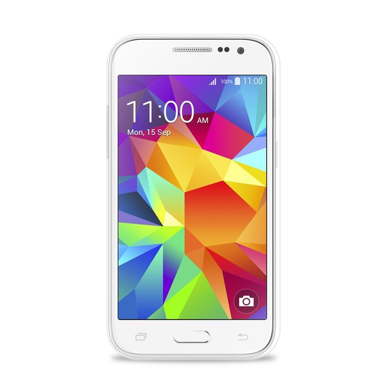 """PURO Ultra Slim """"0.3"""" Cover - Zestaw etui + folia na ekran Samsung Galaxy Core Prime (półprzezroczysty)"""