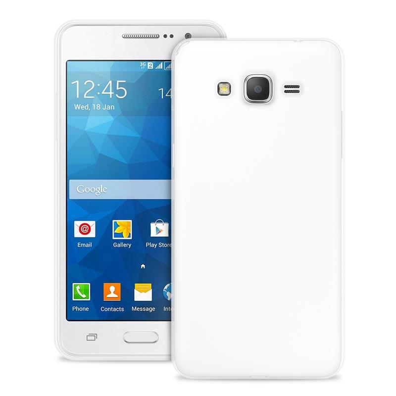 """PURO Ultra Slim """"0.3"""" Cover - Zestaw etui + folia na ekran Samsung Galaxy GRAND Prime (półprzezroczysty)"""