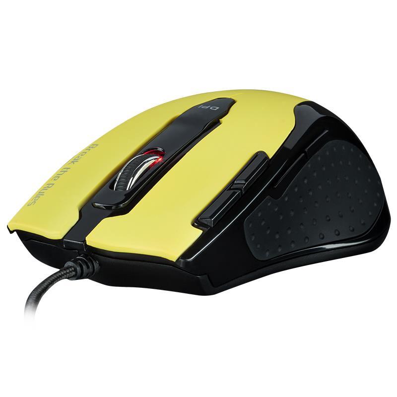 Tesoro Shrike v2 Yellow Edition - Mysz laserowa 8200 DPI (żółty)