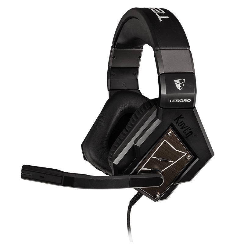 Tesoro Kuven A1 PRO - Słuchawki dla graczy real 5.1 surround z mikrofonem (czarny)