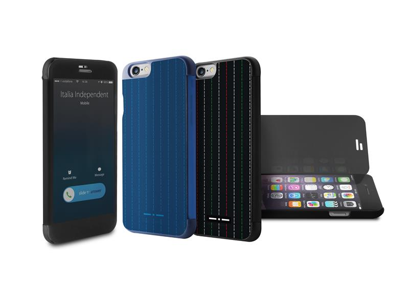 ITALIA INDEPENDENT Stripe Sense Case - Etui Apple iPhone 6s / iPhone 6 w/Quick View & Answer (czarny)