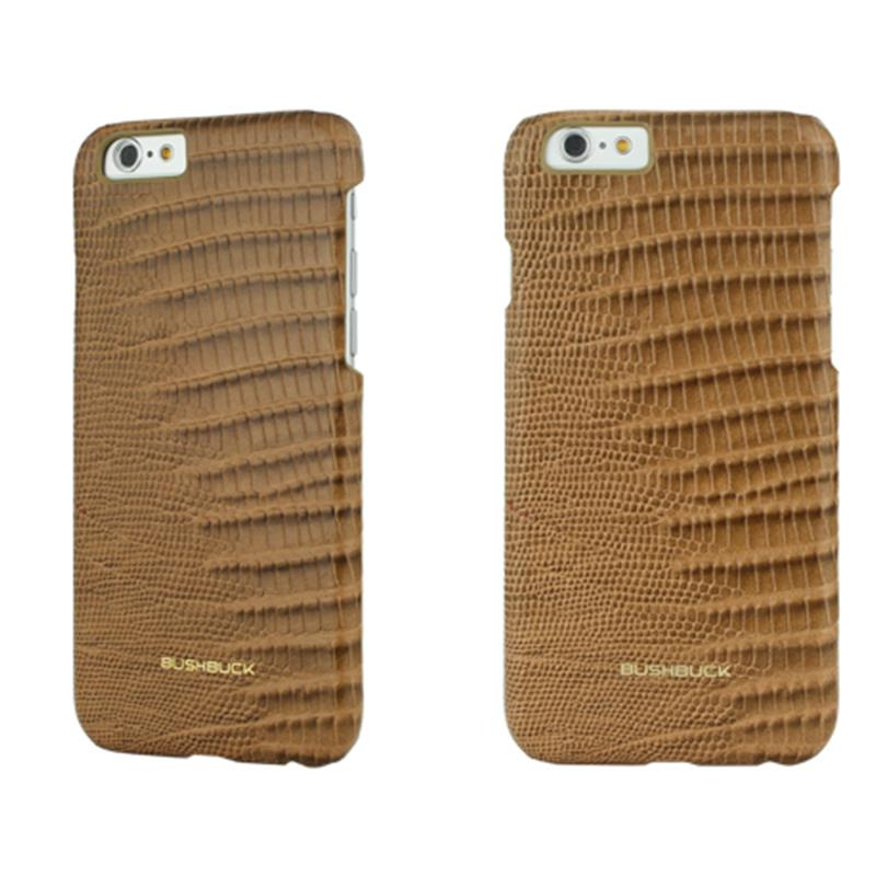 BUSHBUCK LIZARD Leather Case - Etui skórzane do iPhone 6s / iPhone 6 (khaki)