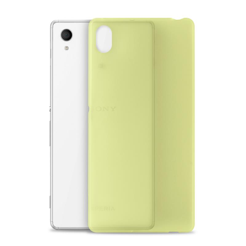 "PURO Ultra Slim ""0.3"" Cover MFX - Zestaw etui + folia na ekran Xperia M4 AQUA (limonkowy)"