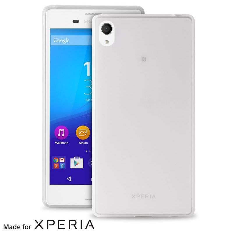 """PURO Ultra Slim """"0.3"""" Cover MFX - Zestaw etui + folia na ekran Xperia M4 AQUA (półprzezroczysty)"""