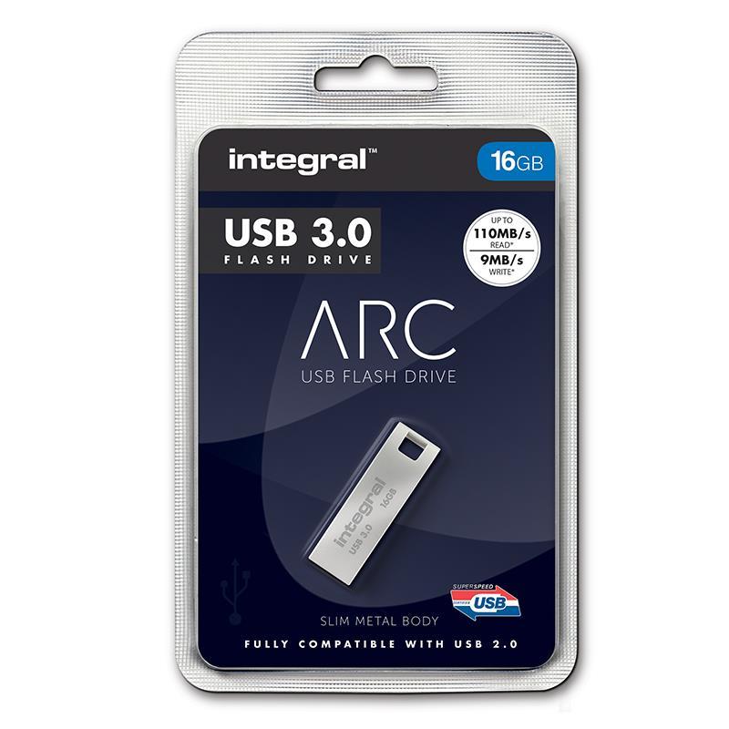 Integral ARC - Metalowy pendrive 16 GB USB 3.0 prędkość odczytu 110 MB/s