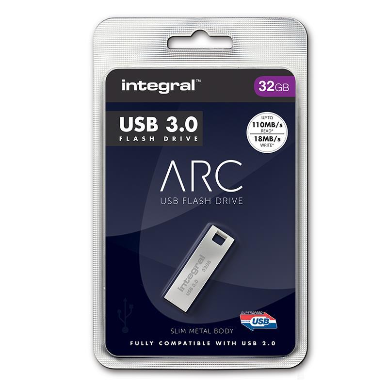 Integral ARC - Metalowy pendrive 32 GB USB 3.0 prędkość odczytu 110 MB/s