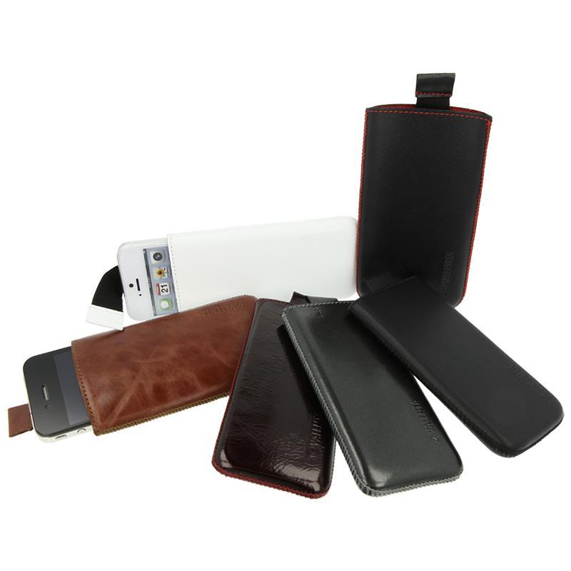 Valenta Pocket Classic - Skórzane etui wsuwka Samsung Galaxy S5/S5 Neo, Sony Xperia Z i inne (czarny)