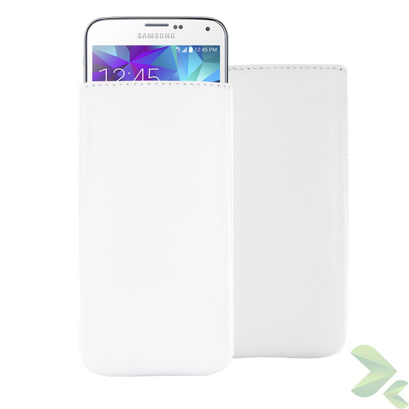 Valenta Pocket Classic - Skórzane etui wsuwka Samsung Galaxy S5/S5 Neo, Sony Xperia Z i inne (biały)