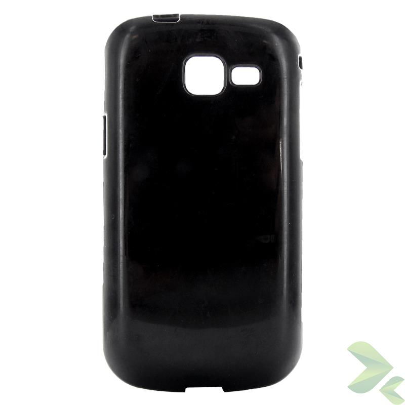 Geffy - Etui Samsung Galaxy Trend (I699) / Trend II Duos (S7572)  / S Duos (S7566) TPU solid color black