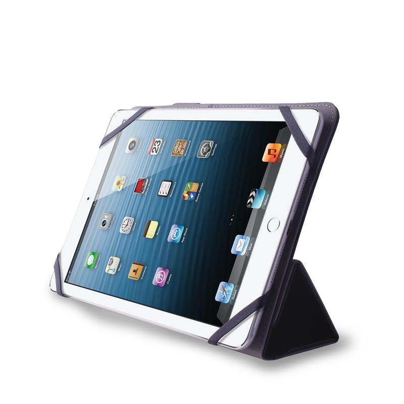 PURO Universal Booklet Easy - Etui tablet 8'' w/Folding back + stand up + Magnetic Closure (czarny)
