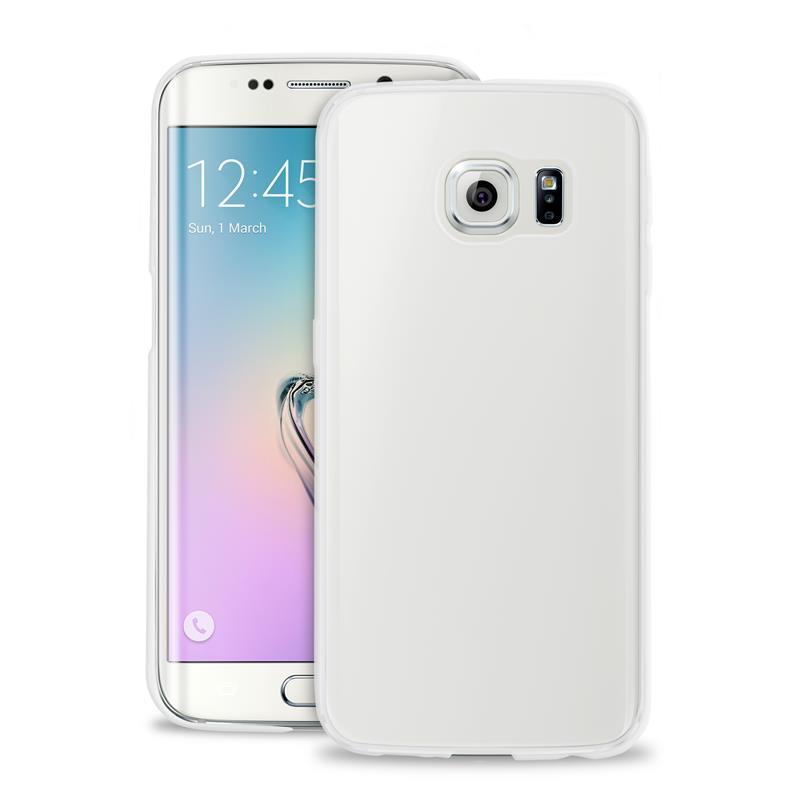 """PURO Ultra Slim """"0.3"""" Cover - Zestaw etui + folia na ekran Samsung Galaxy S6 edge+ (półprzezroczysty)"""