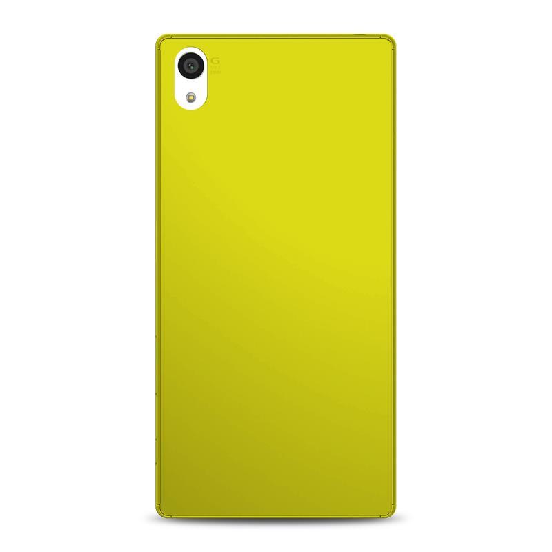 """PURO Ultra Slim """"0.3"""" Cover MFX - Zestaw etui + folia na ekran Sony Xperia Z5 (limonkowy)"""