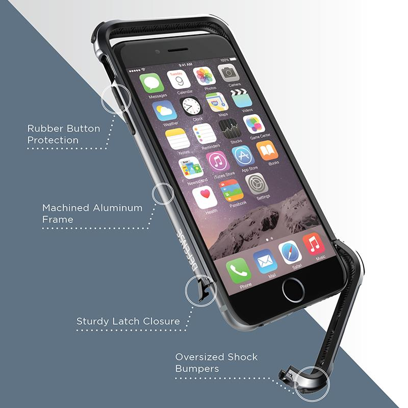 X-Doria Defense Gear - Aluminiowy bumper iPhone 6s / iPhone 6 (srebrny)