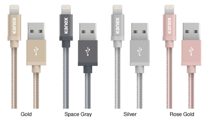 Kanex MiColor Premium Lightning - Kabel MFi z Lightning do USB 1,2 m (Rose Gold)