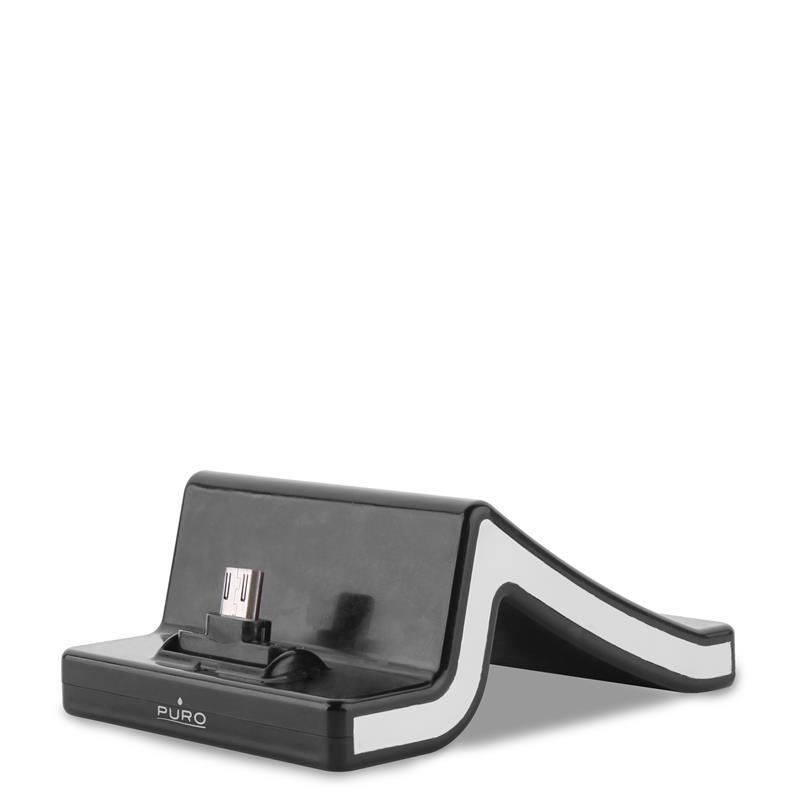 PURO Charging Desk Holder - Stacja dokująca micro USB (czarny)