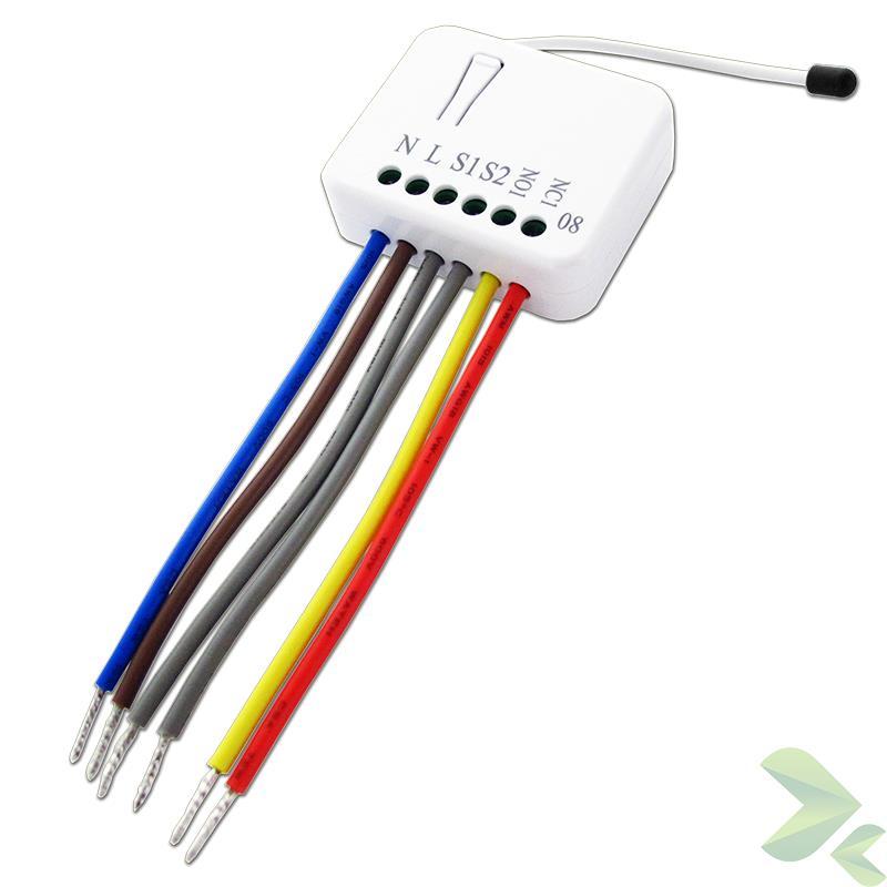 Zipato Micromodule Single Switch - Mikromoduł dopuszkowy sterowania roletami Z-Wave Plus