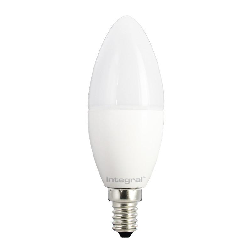 Integral żarówka LED E14 Candle 4W (25W) 2700K 260lm Frosted barwa biała ciepła