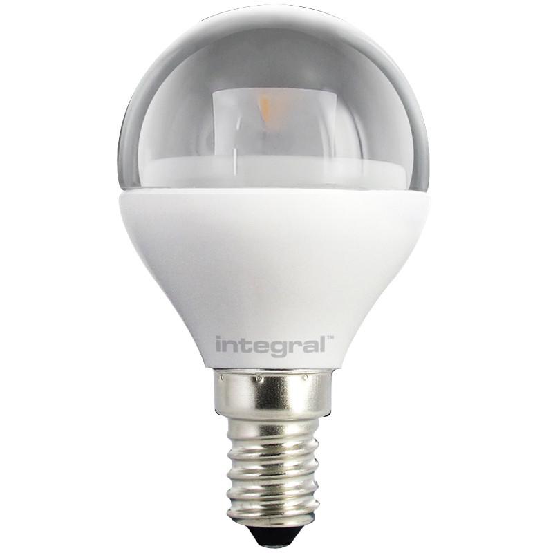 Integral żarówka LED E14 Mini Globe 4W (25W) 2700K 250lm Clear barwa biała ciepła