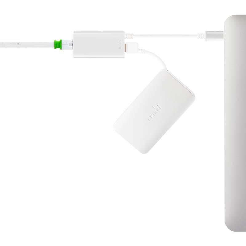 Moshi USB 3.0 to Gigabit Ethernet Adapter - Aluminiowa przejściówka z USB 3.0 na Gigabit Ethernet (srebrny)