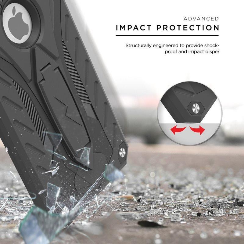 Zizo Static Cover - Pancerne etui iPhone 7 Plus z podstawką (czarny/czarny)