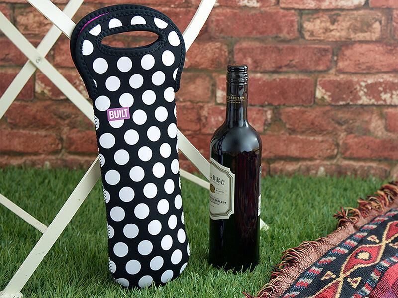 BUILT One Bottle Tote - Torebka termiczna na butelkę (Big Dot)