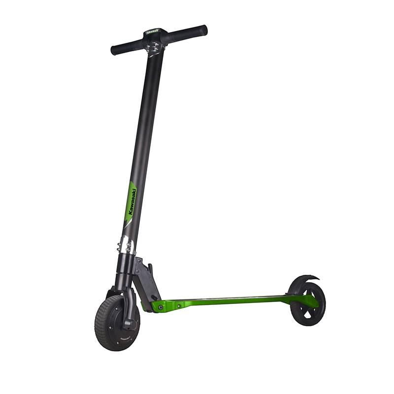 Kawasaki Scooter KX-SF6.5 - Składana hulajnoga elektryczna (czarny/zielony)