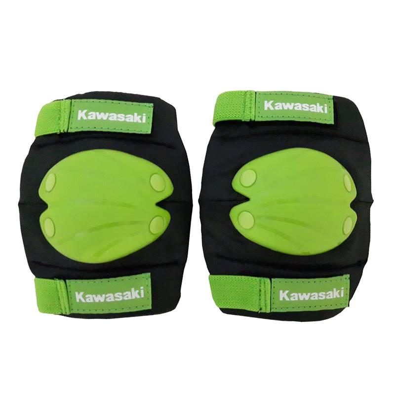 Kawasaki Kit Knee and Elbow Pads L/XL - Ochraniacze na łokcie lub kolana 14+ lat (czarny/zielony)