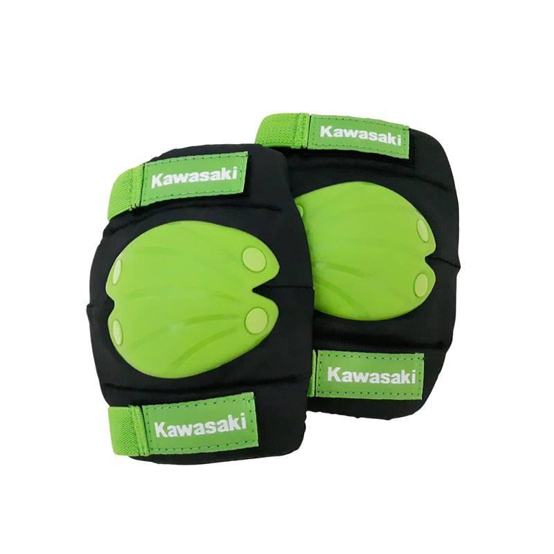 Kawasaki Kit Knee and Elbow Pads S/M - Ochraniacze na łokcie lub kolana 8-14 lat (czarny/zielony)