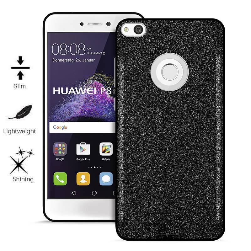 PURO Glitter Shine Cover - Etui Huawei P8 Lite 2017 / Honor 8 Lite / Nova Lite / GR3 2017 (Black)
