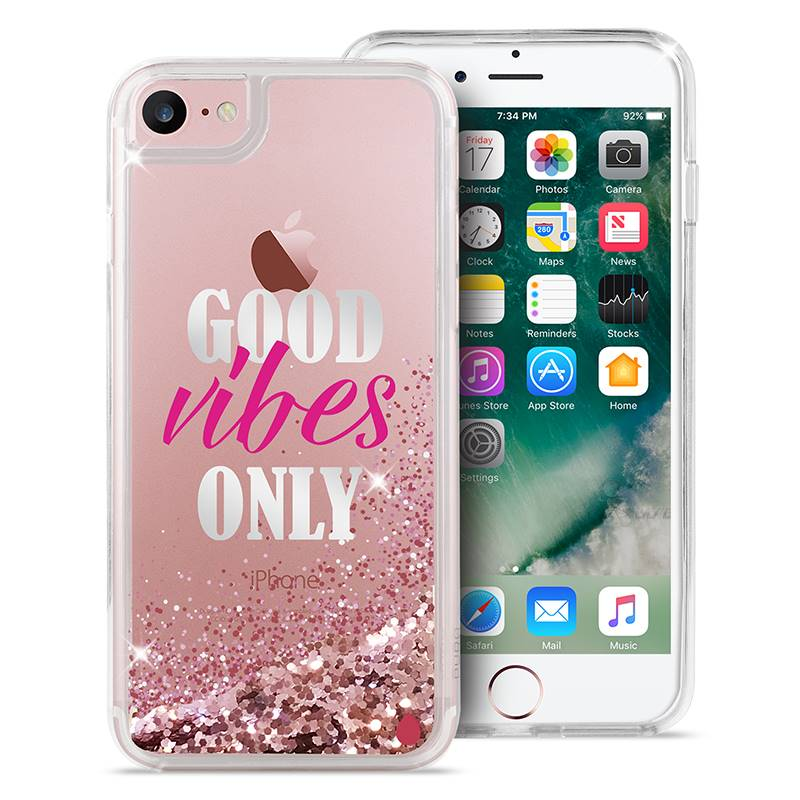Puro Aqua Cover - Etui iPhone 8 / 7 / 6s / 6 (Good Vibes Only)