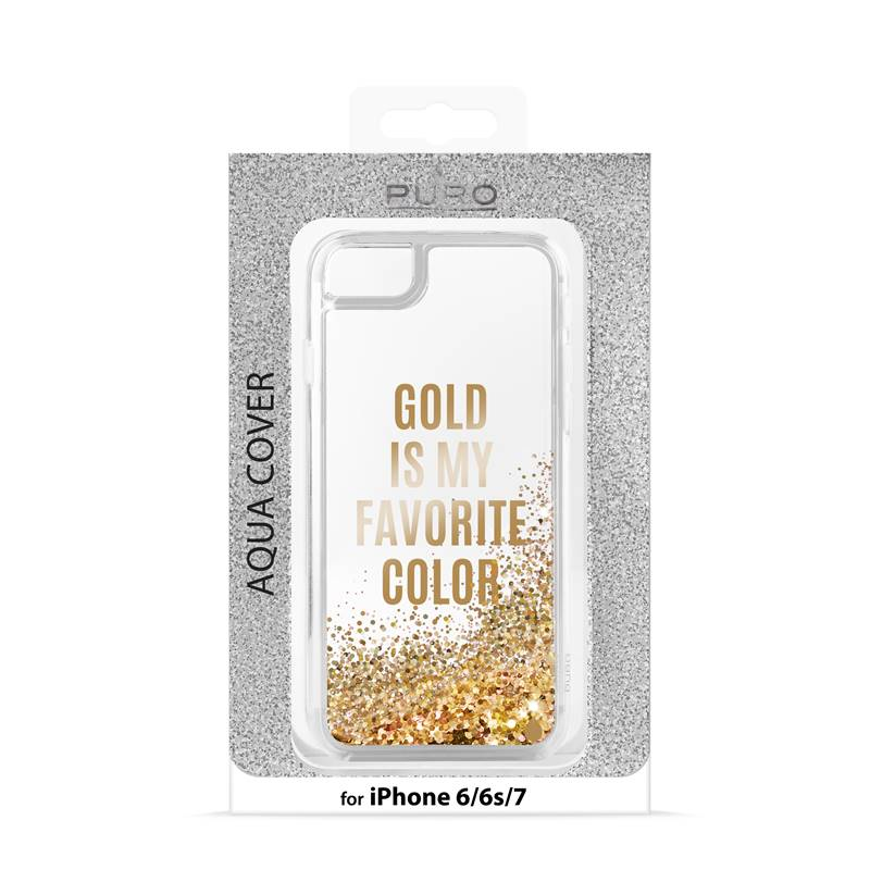 Puro Aqua Cover - Etui iPhone 7 / iPhone 6s / iPhone 6 (Gold is my favourite colour)