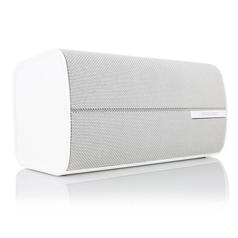 Braven 2200m HD Bluetooth Speaker - Bezprzewodowy głośnik stereo 2.0 + Power Bank 8800 mAh (White)