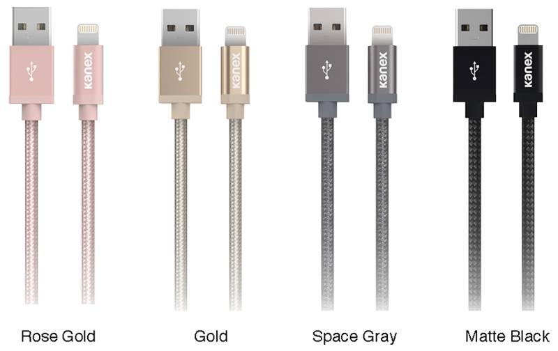 Kanex MiColor Premium Lightning - Kabel MFi z Lightning do USB, 2 m (Space Grey)