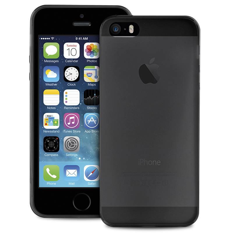 "PURO Ultra Slim ""0.3"" Cover - Etui iPhone SE / iPhone 5s / iPhone 5 (czarny przezroczysty)"