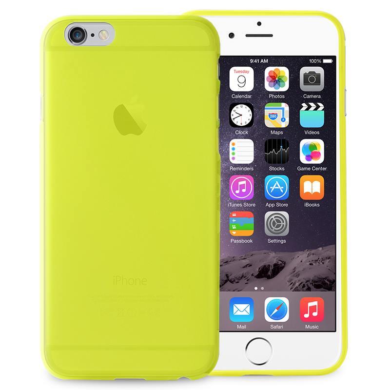 "PURO Ultra Slim ""0.3"" Cover - Etui iPhone 6s Plus / iPhone 6 Plus (limonkowy)"