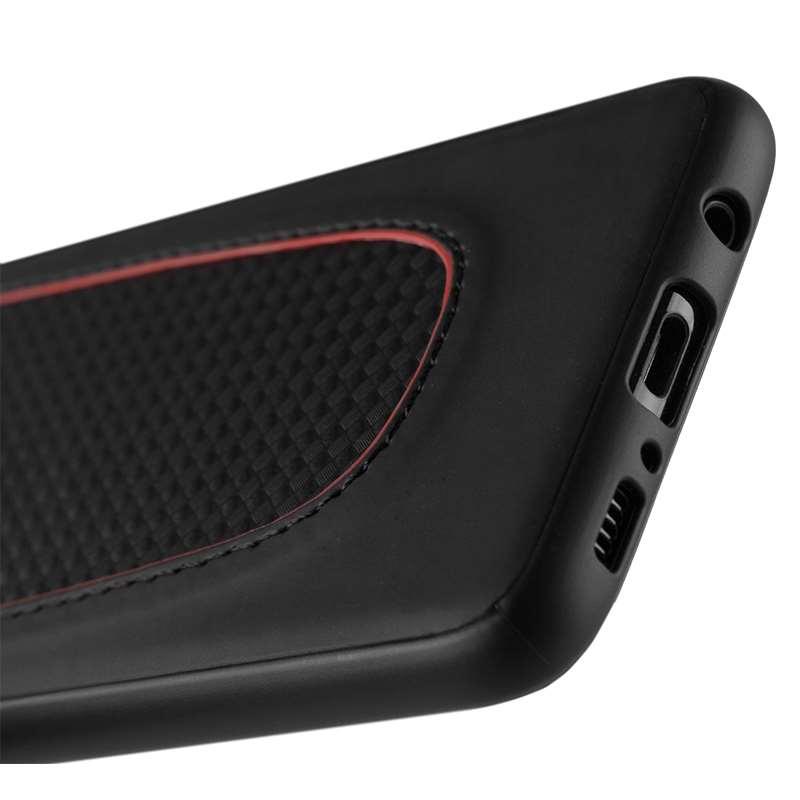 Ferrari Pit Stop Black Trim - Etui Samsung Galaxy S8 (Black Carbon)