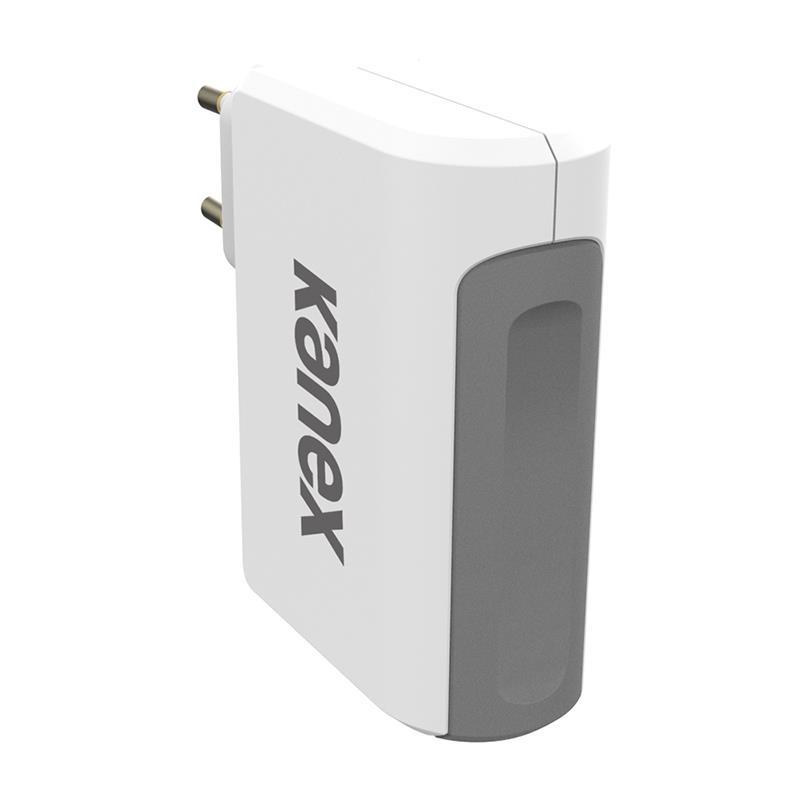 Kanex 4-Port USB Wall Charger - Ładowarka sieciowa z czterema portami USB 4,8 A, 27 W (biały/szary)