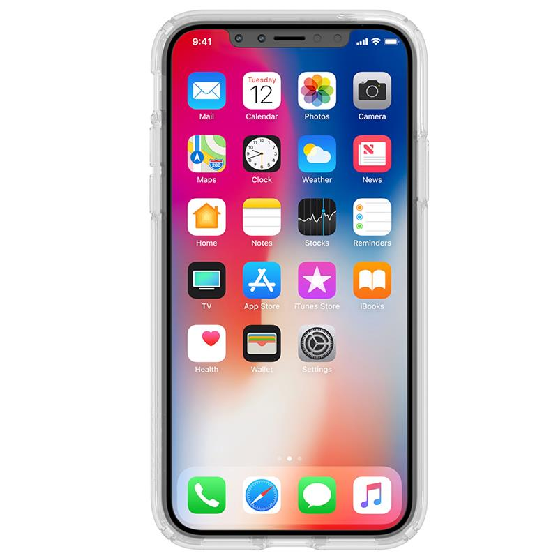 Speck Presidio Clear with Print - Etui iPhone X (Goldenblossoms Pink/Clear)