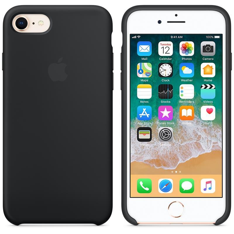Apple Silicone Case - Silikonowe etui iPhone 8 / 7 (czarny)
