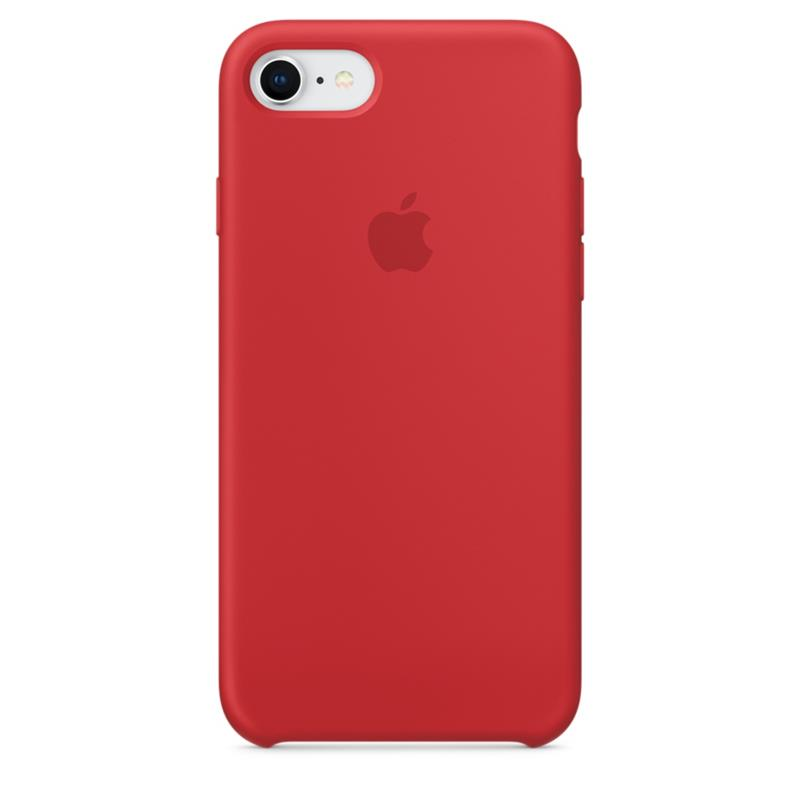 Apple Silicone Case - Silikonowe etui iPhone 8 / 7 (czerwony) (PRODUCT)RED