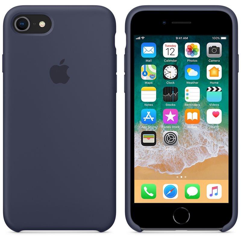 Apple Silicone Case - Silikonowe etui iPhone 8 / 7 (nocny błękit)