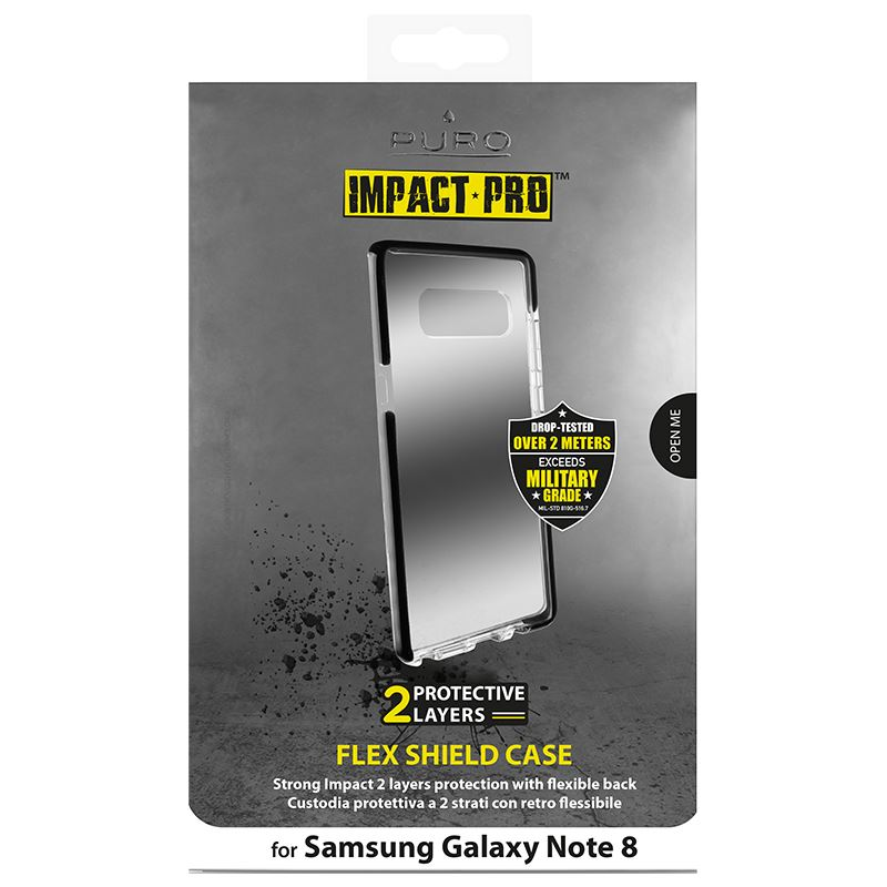 PURO Impact Pro Flex Shield - Etui Samsung Galaxy Note 8 (2017) (czarny)