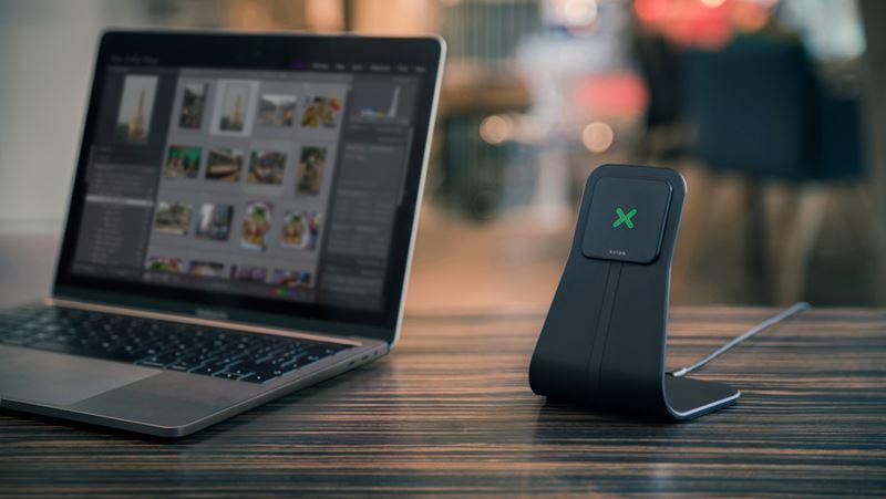 XVIDA Fast Charging Desk Stand - Ładowarka indukcyjna Qi Samsung Quick Charge 2.0 (czarny)